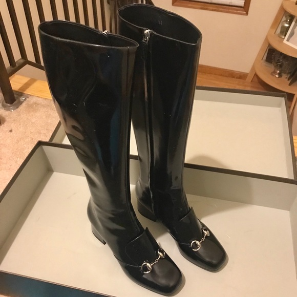 b21bcd952 Gucci Shoes | Lillian Horsebit Black Boots Nwt Size 6 | Poshmark